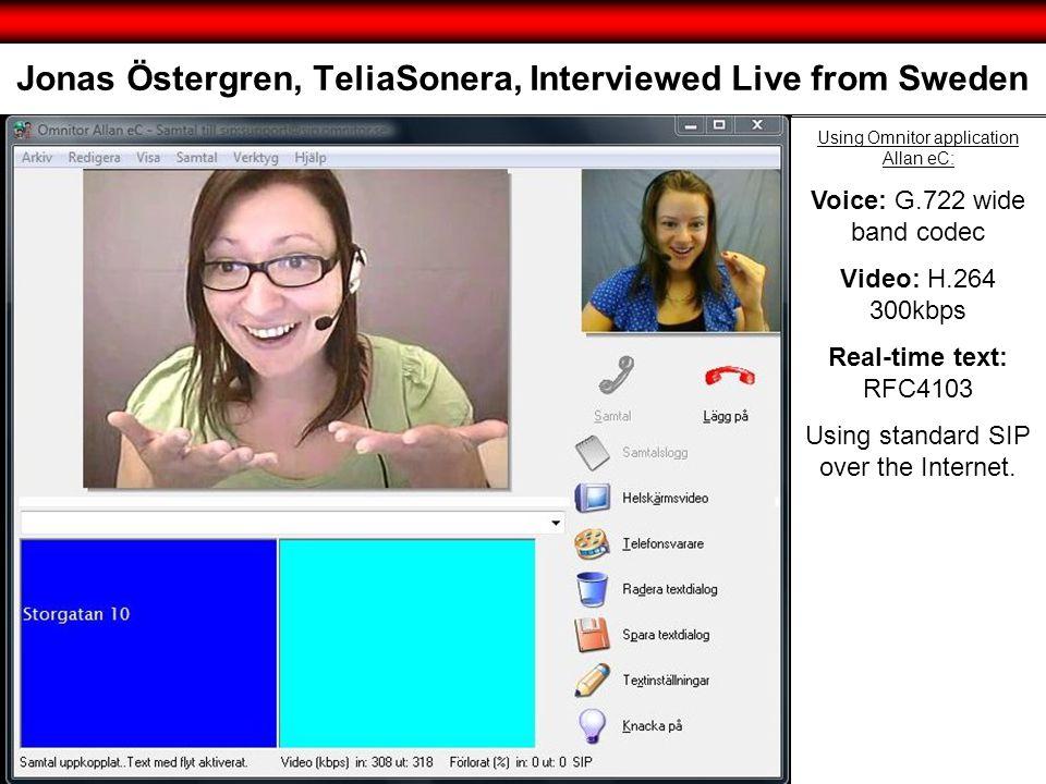 Jonas Östergren, TeliaSonera, Interviewed Live from Sweden