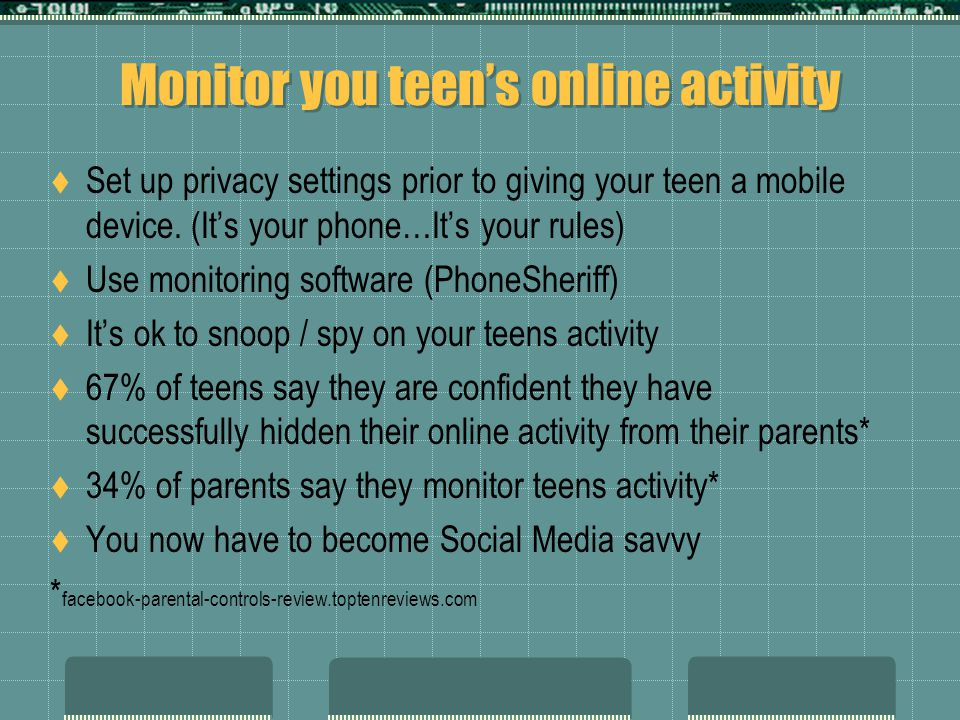Monitor you teen's online activity