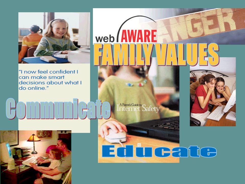 FAMILY VALUES Communicate Educate