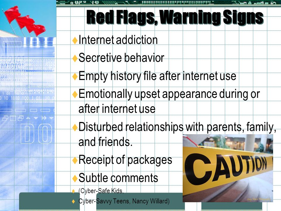 Red Flags, Warning Signs