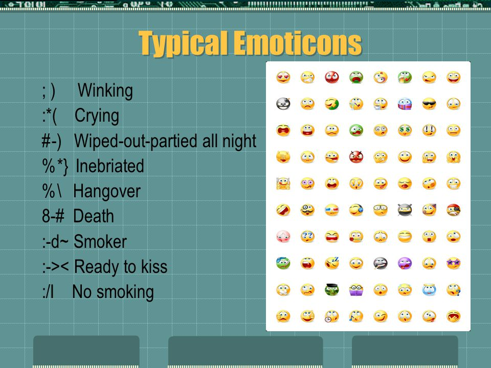 Typical Emoticons