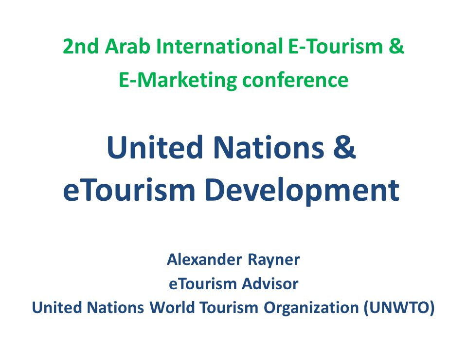 United Nations & eTourism Development