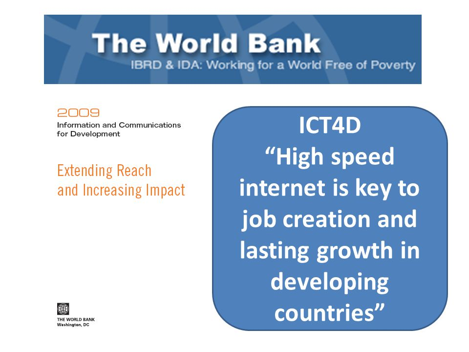 ICT4D High speed internet is key to job creation and lasting growth in developing countries