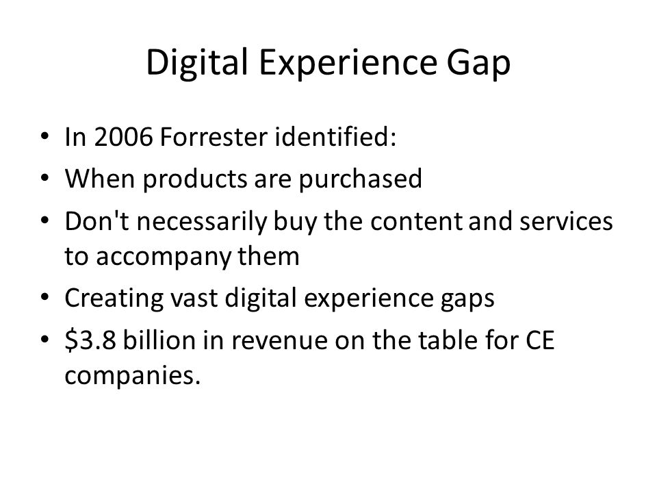 Digital Experience Gap