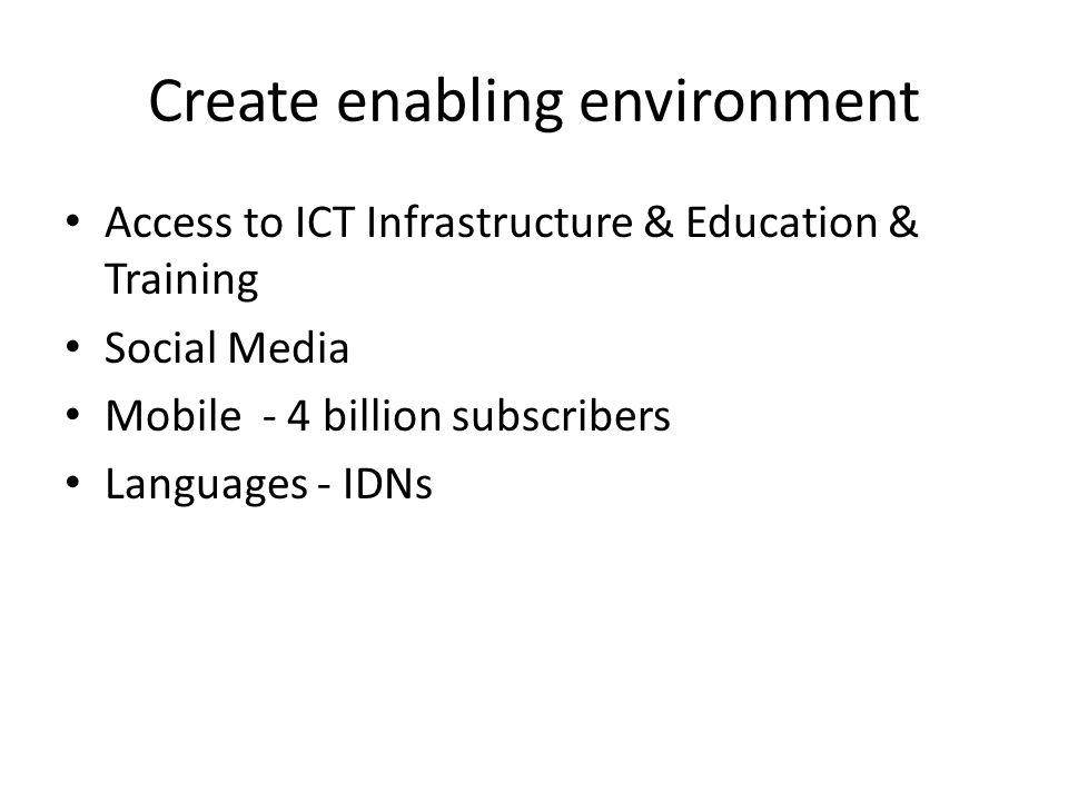 Create enabling environment