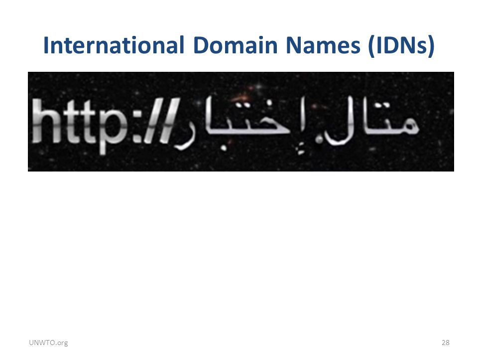 International Domain Names (IDNs)