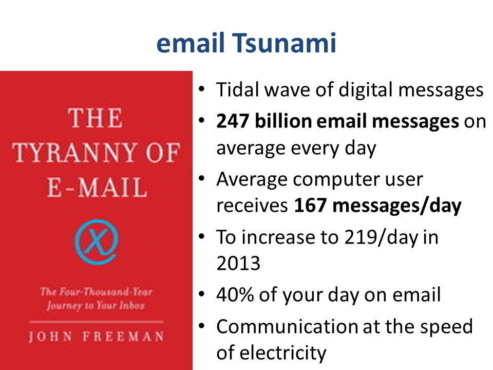 email Tsunami Tidal wave of digital messages