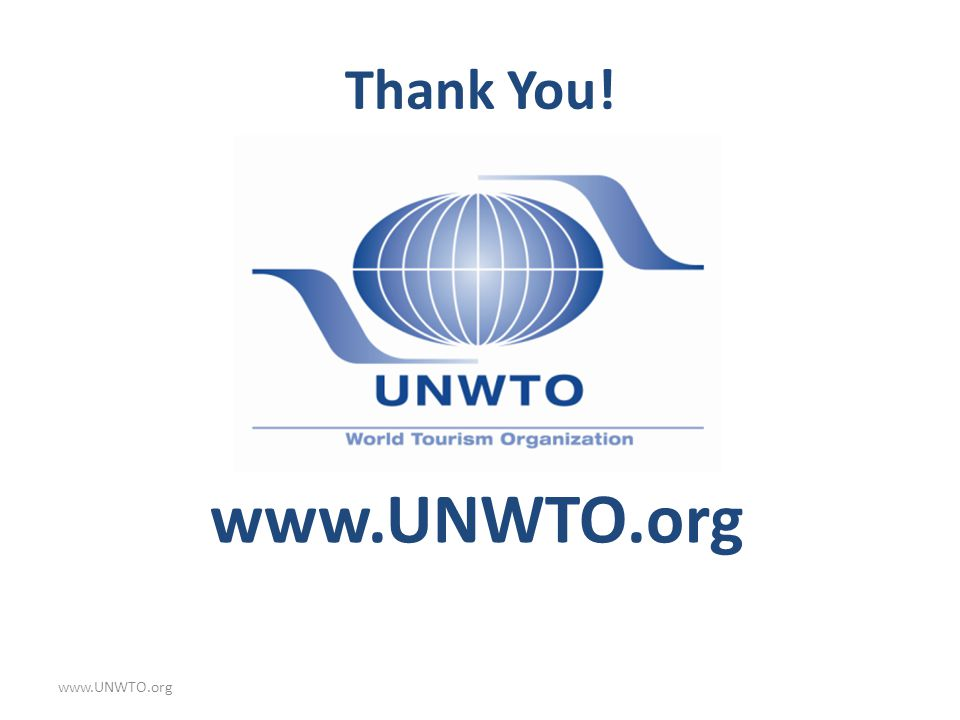 Thank You! www.UNWTO.org www.UNWTO.org