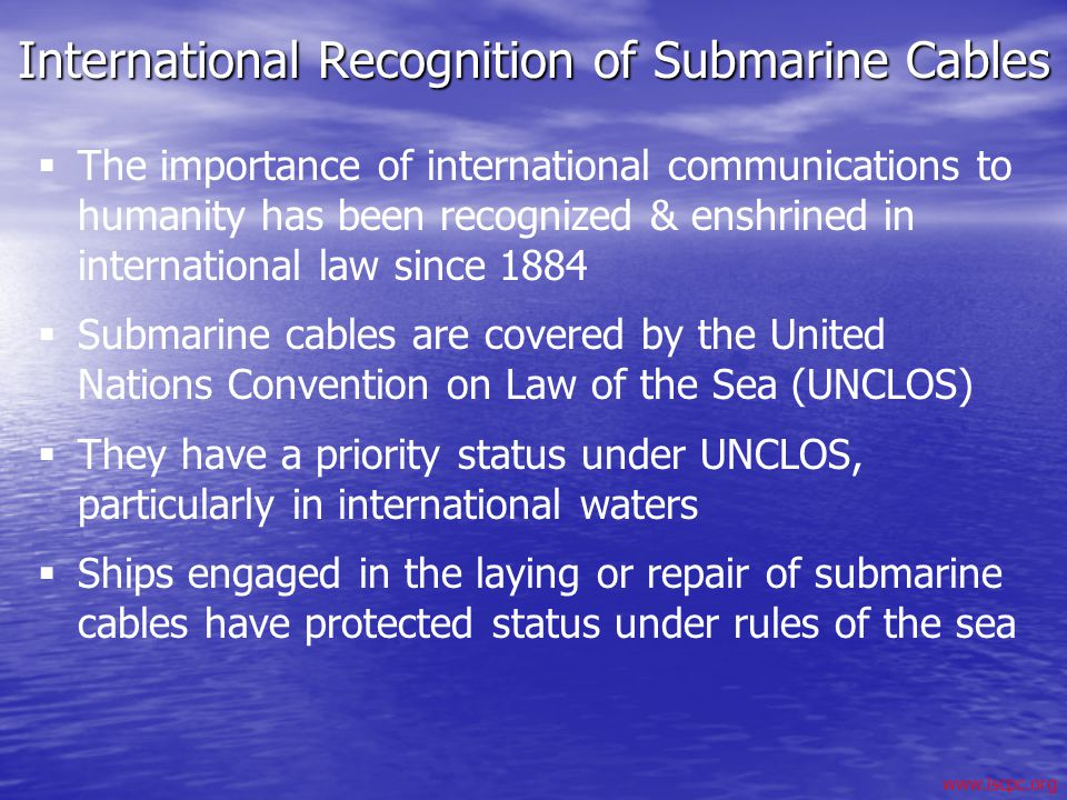 International Recognition of Submarine Cables