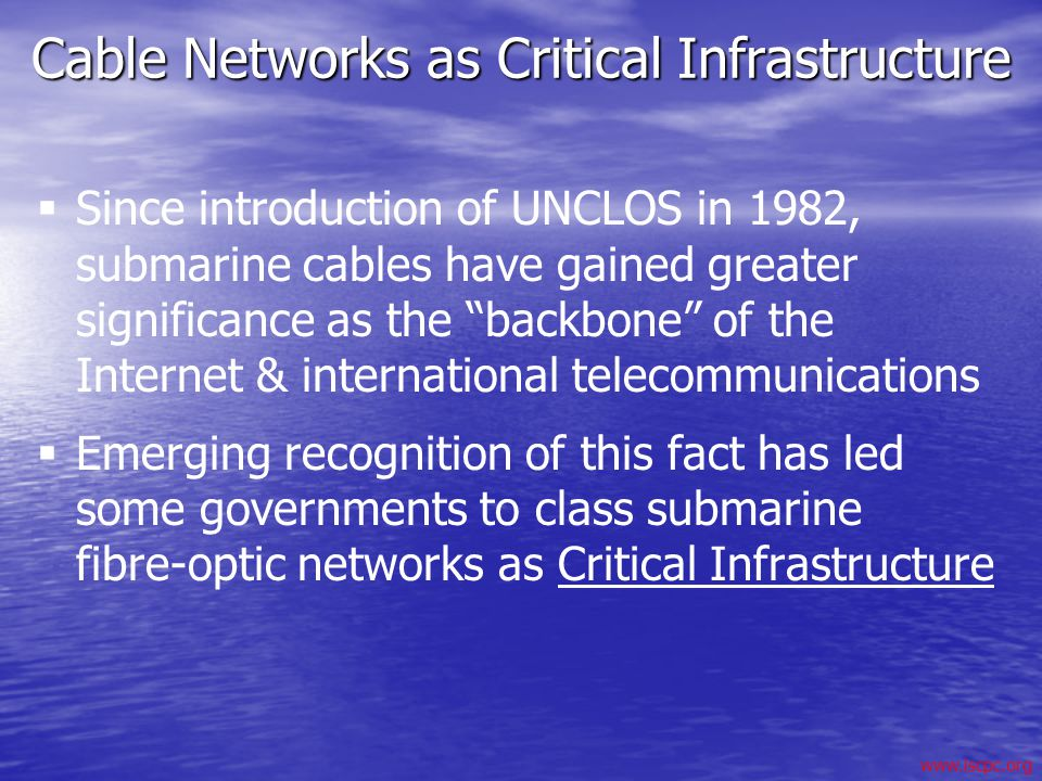 Cable Networks as Critical Infrastructure