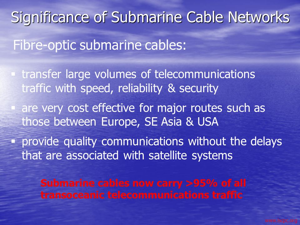 Significance of Submarine Cable Networks