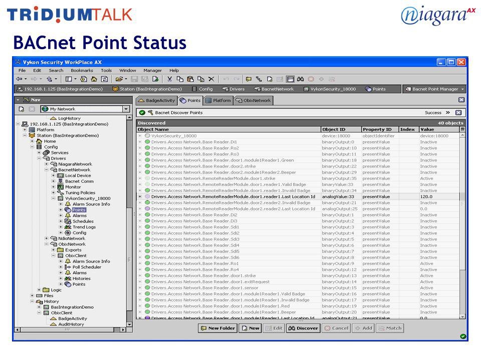 BACnet Point Status