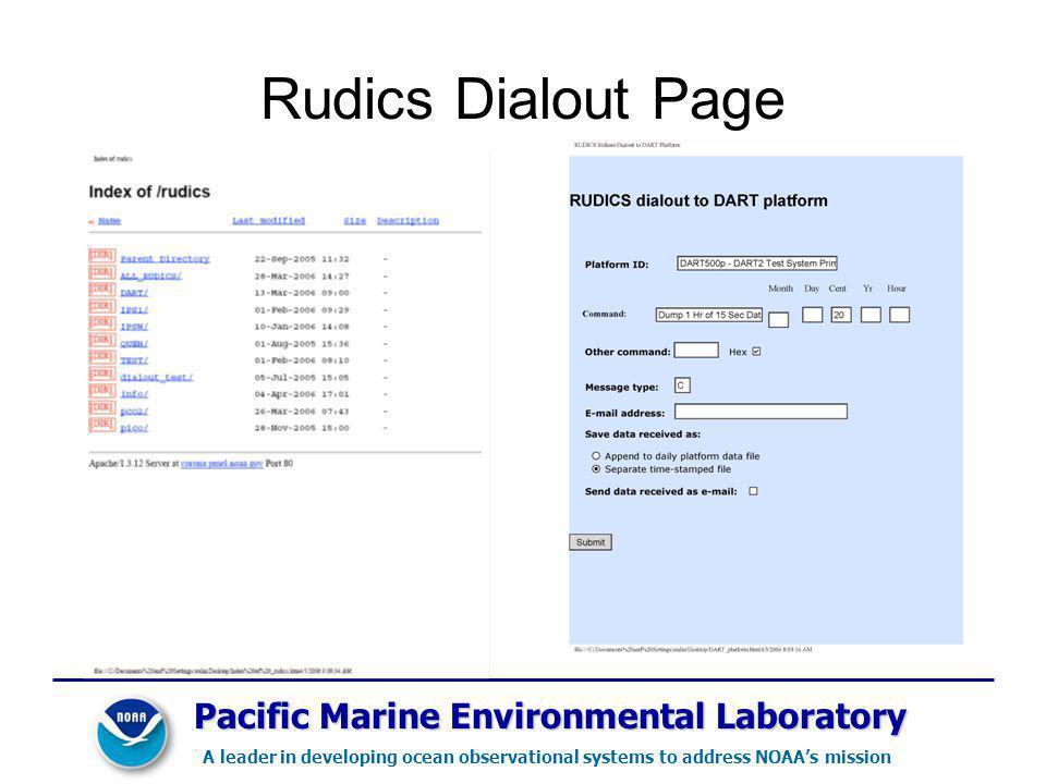Rudics Dialout Page Pacific Marine Environmental Laboratory