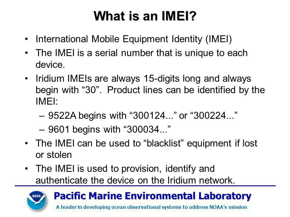 What is an IMEI International Mobile Equipment Identity (IMEI)
