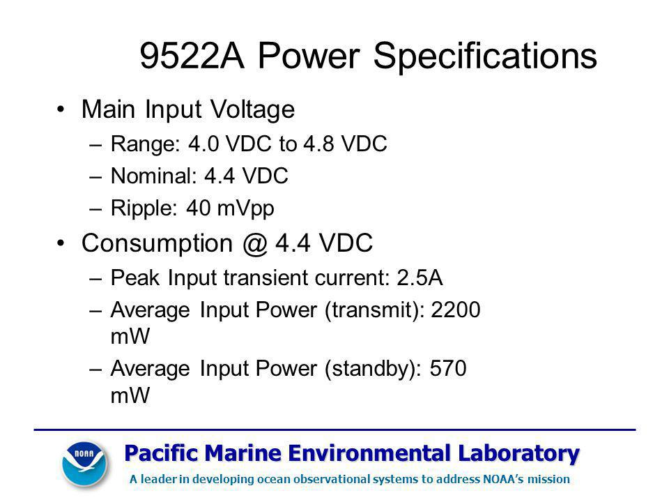 9522A Power Specifications