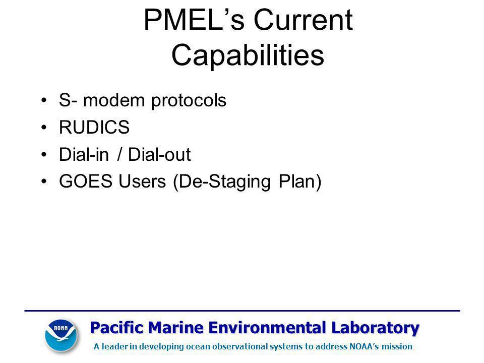 PMEL's Current Capabilities