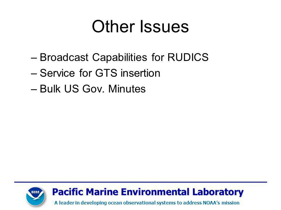 Other Issues Broadcast Capabilities for RUDICS