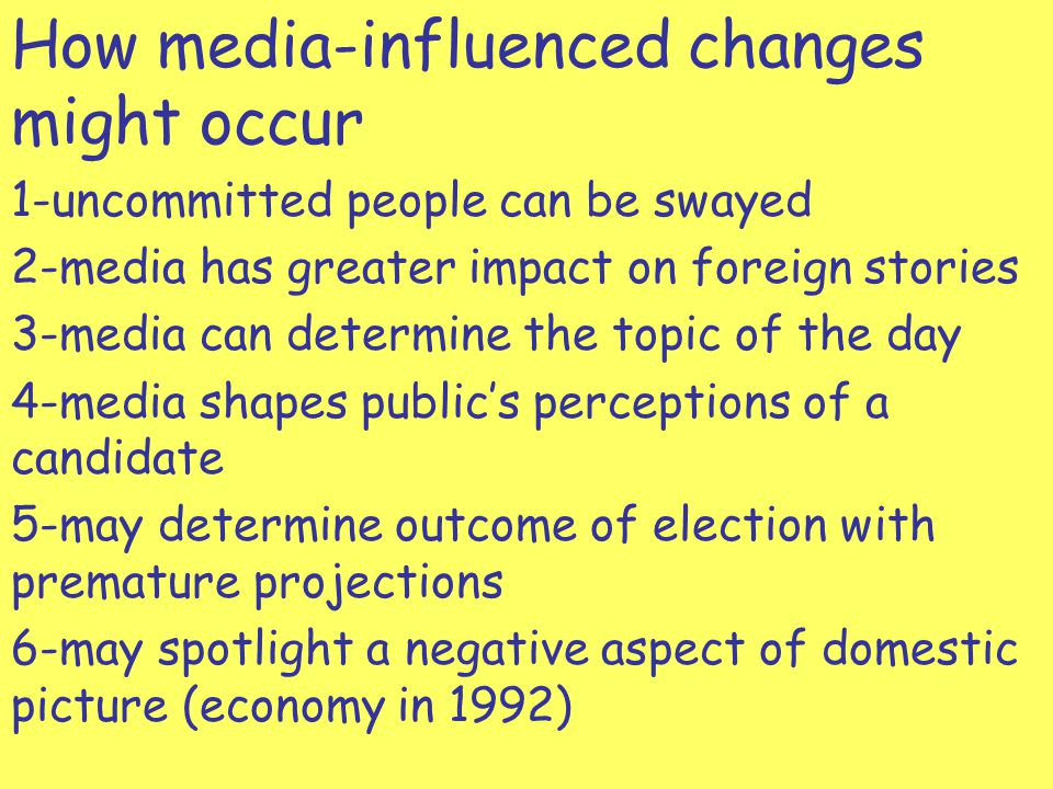 How media-influenced changes might occur