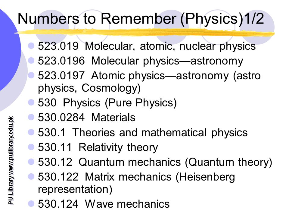 Numbers to Remember (Physics)1/2