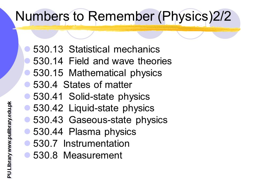 Numbers to Remember (Physics)2/2