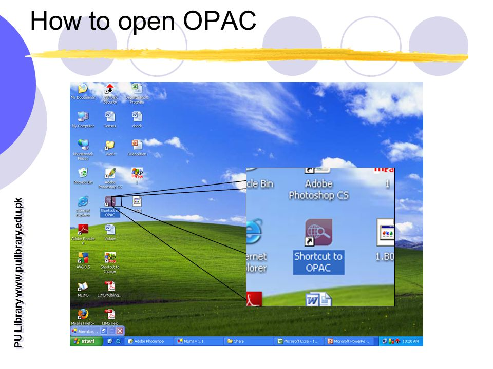 How to open OPAC