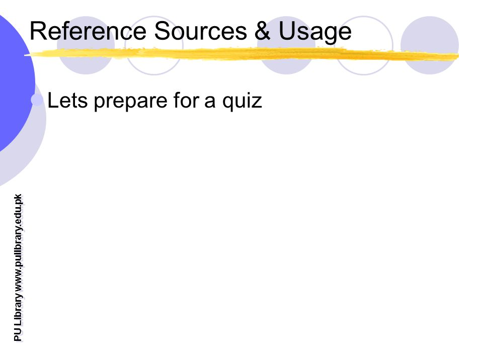 Reference Sources & Usage