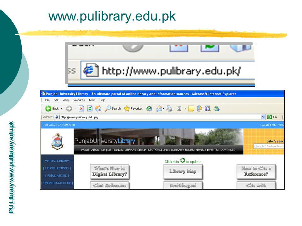 www.pulibrary.edu.pk