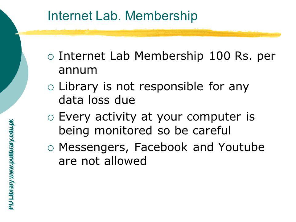 Internet Lab. Membership