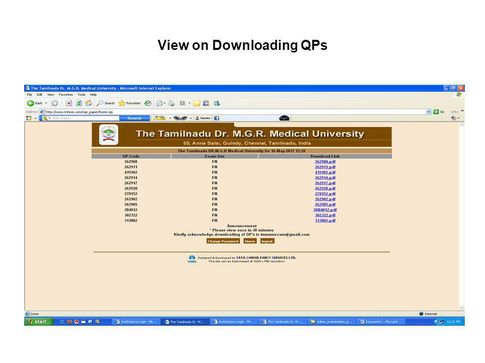 View on Downloading QPs