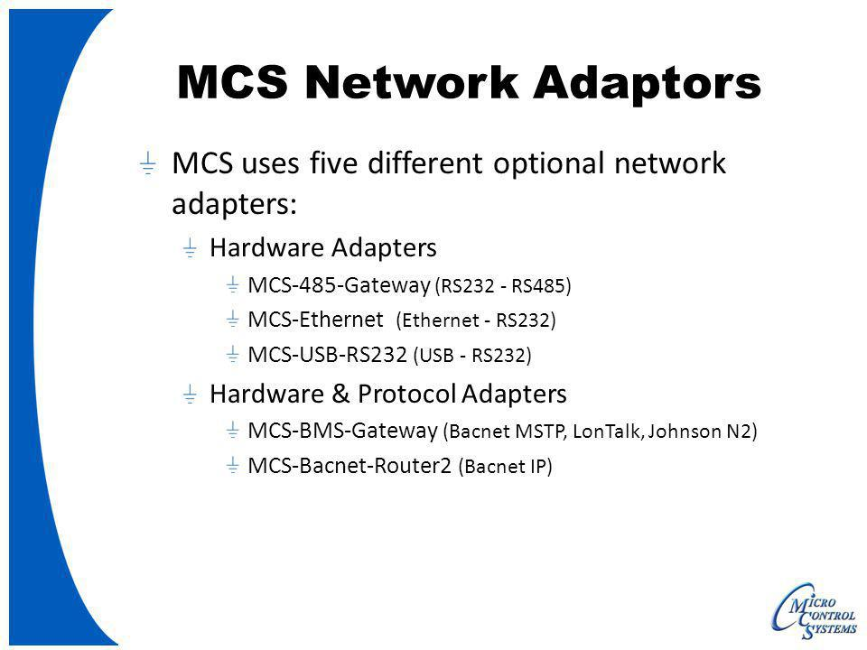 Network solutions ppt video online download mcs network adaptors mcs uses five different optional network adapters hardware adapters mcs publicscrutiny Images