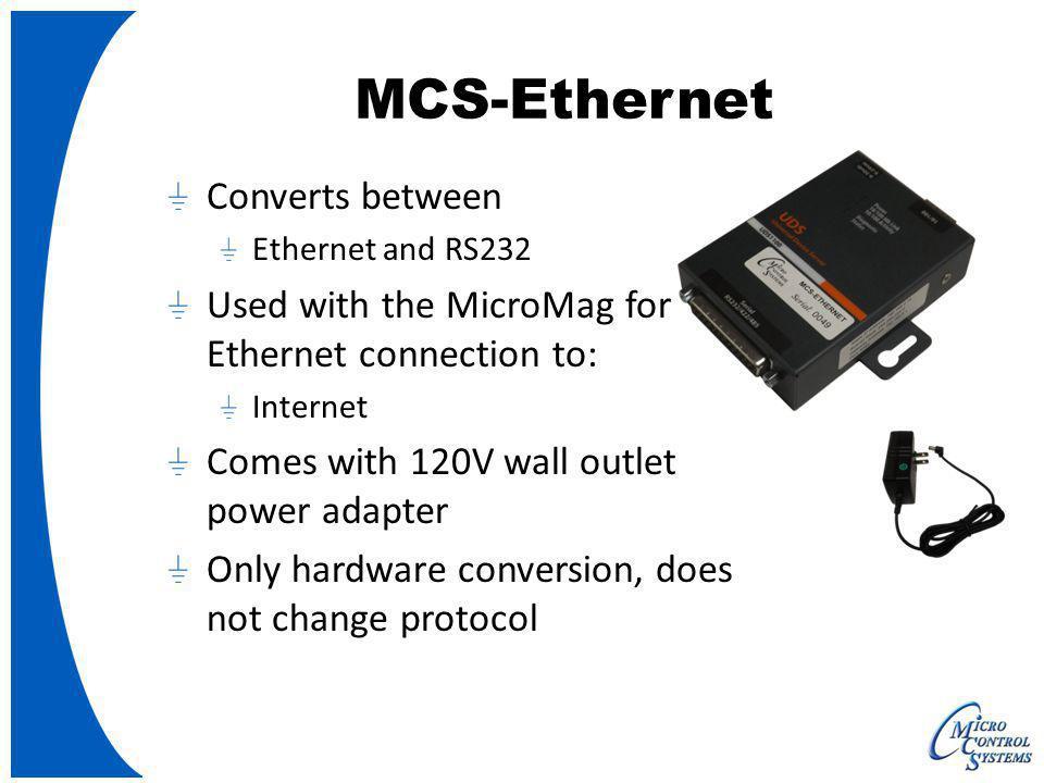 MCS-Ethernet Converts between