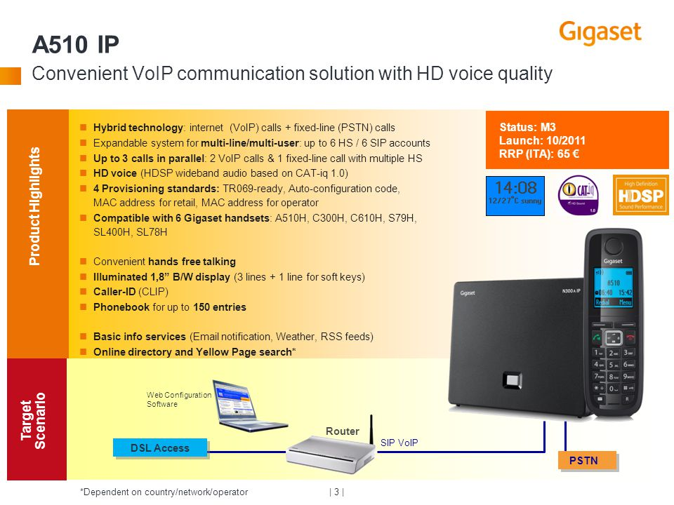 A510 IP Convenient VoIP communication solution with HD voice quality