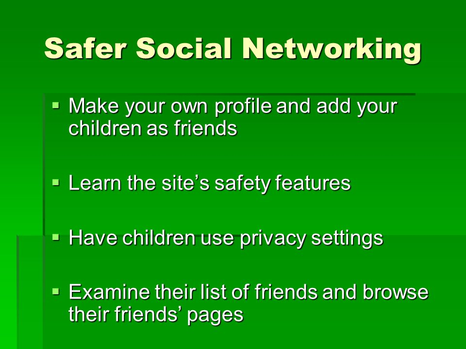 Safer Social Networking