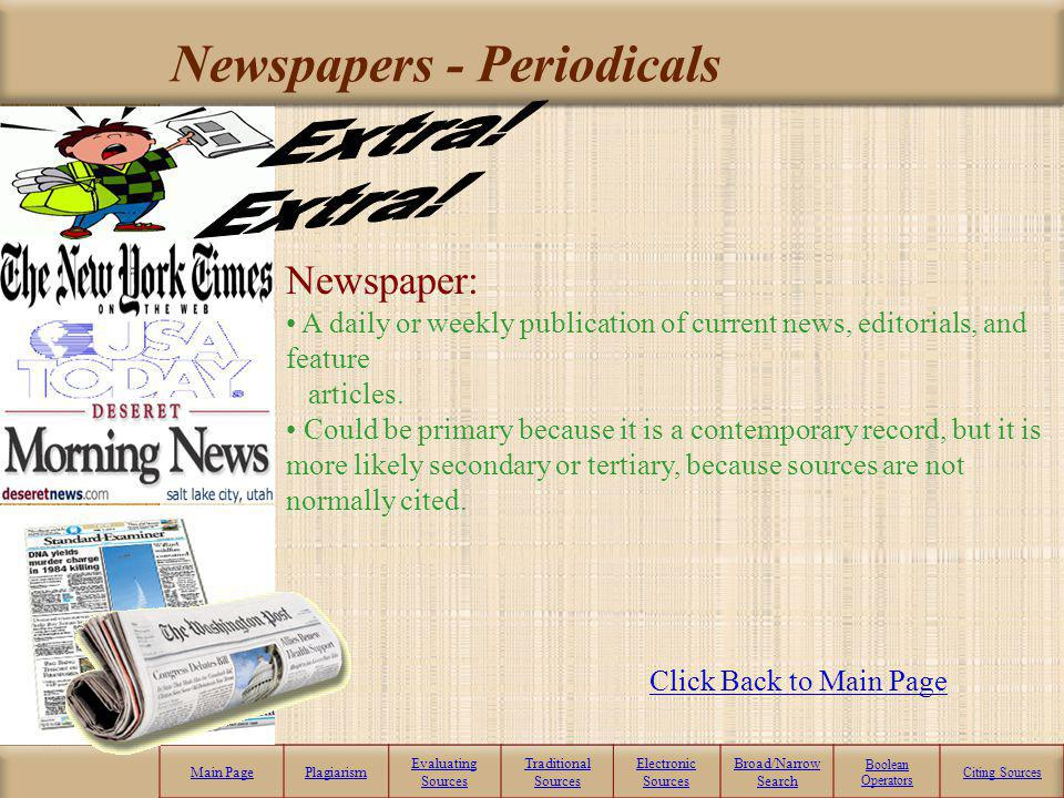 Newspapers - Periodicals