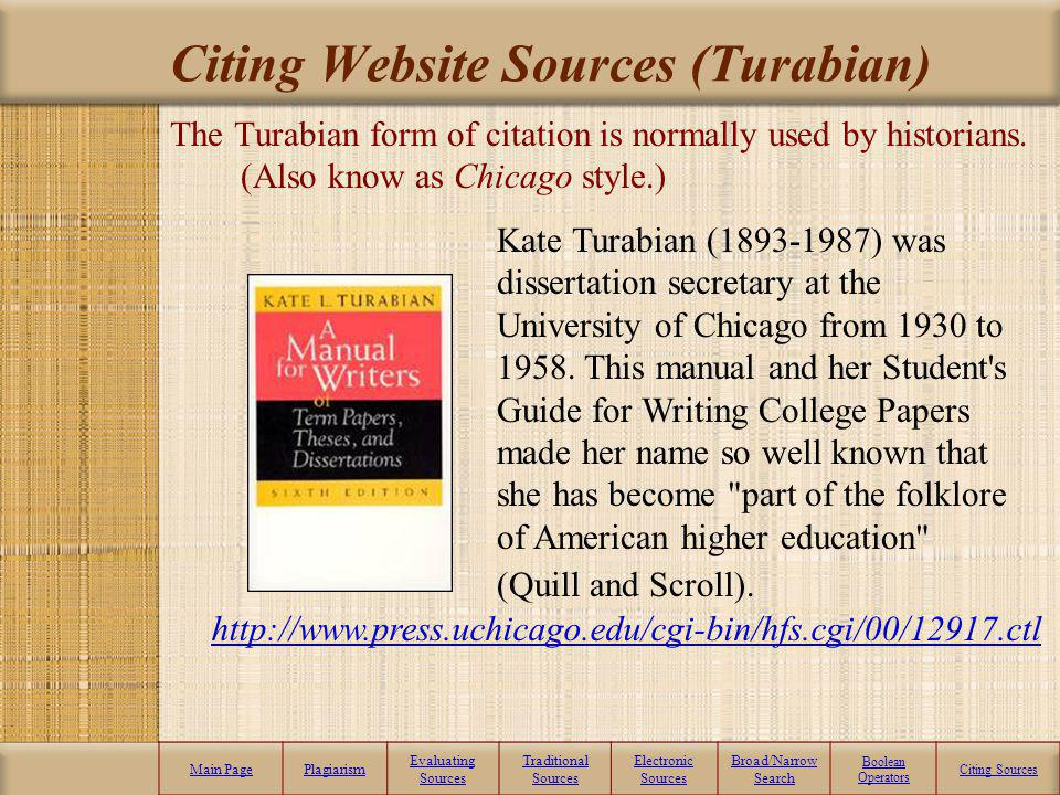 Citing Website Sources (Turabian)