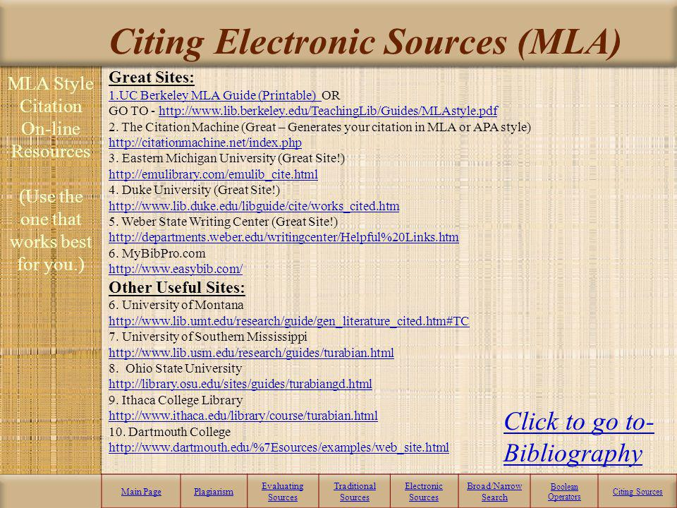 Citing Electronic Sources (MLA)