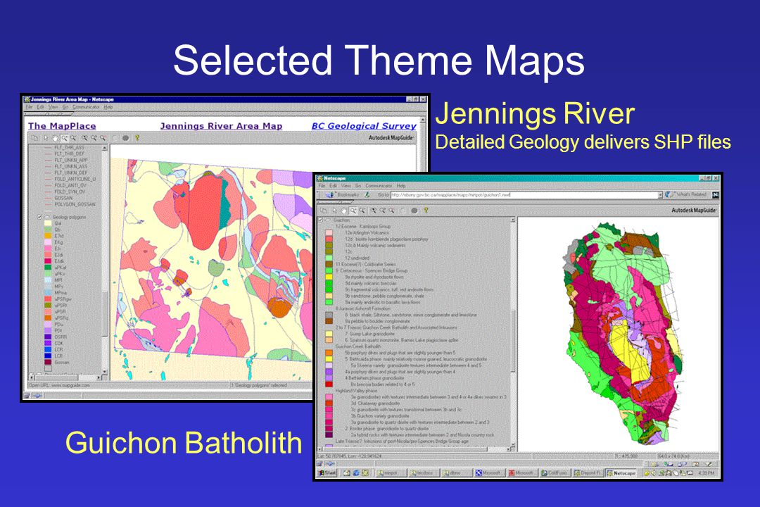 Selected Theme Maps Jennings River Detailed Geology delivers SHP files