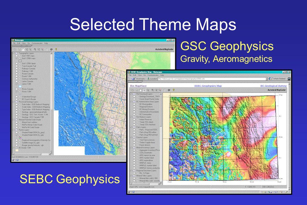 Selected Theme Maps GSC Geophysics Gravity, Aeromagnetics