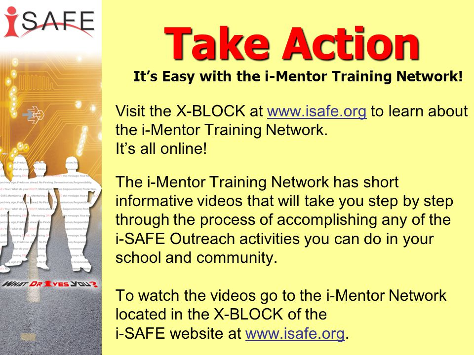 Take Action It's Easy with the i-Mentor Training Network!