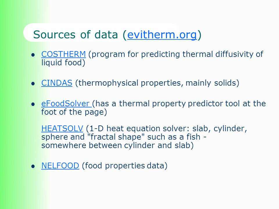 Sources of data (evitherm.org)