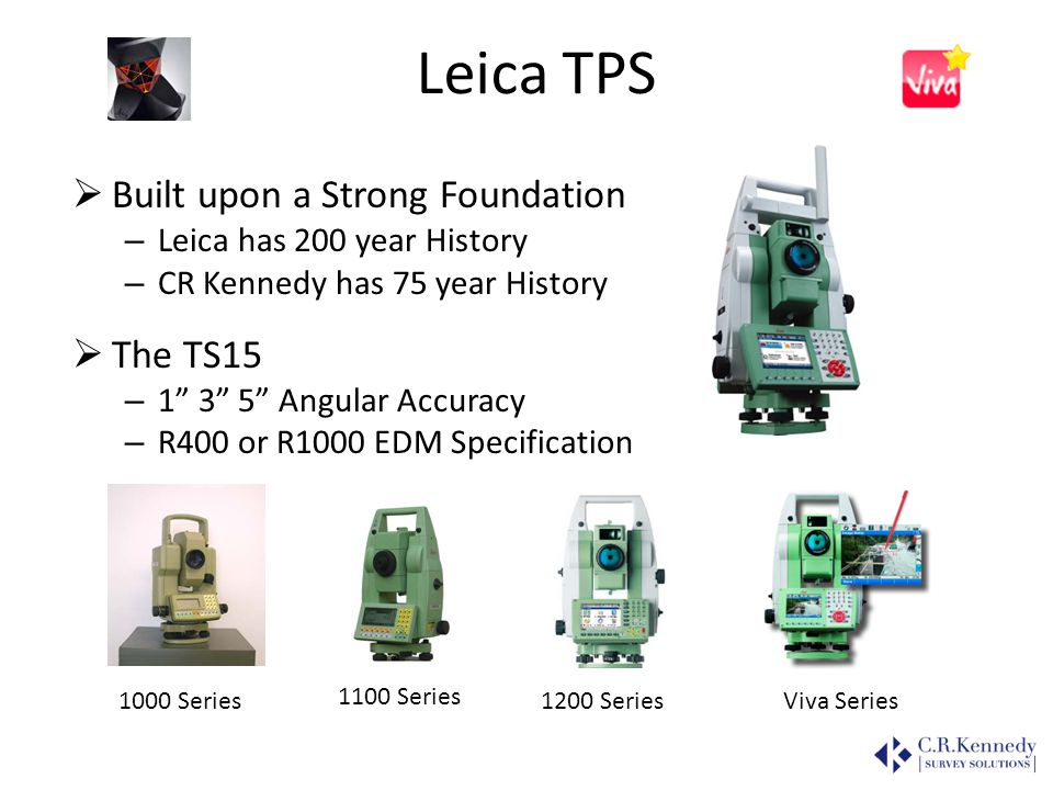 Leica TPS Built upon a Strong Foundation The TS15