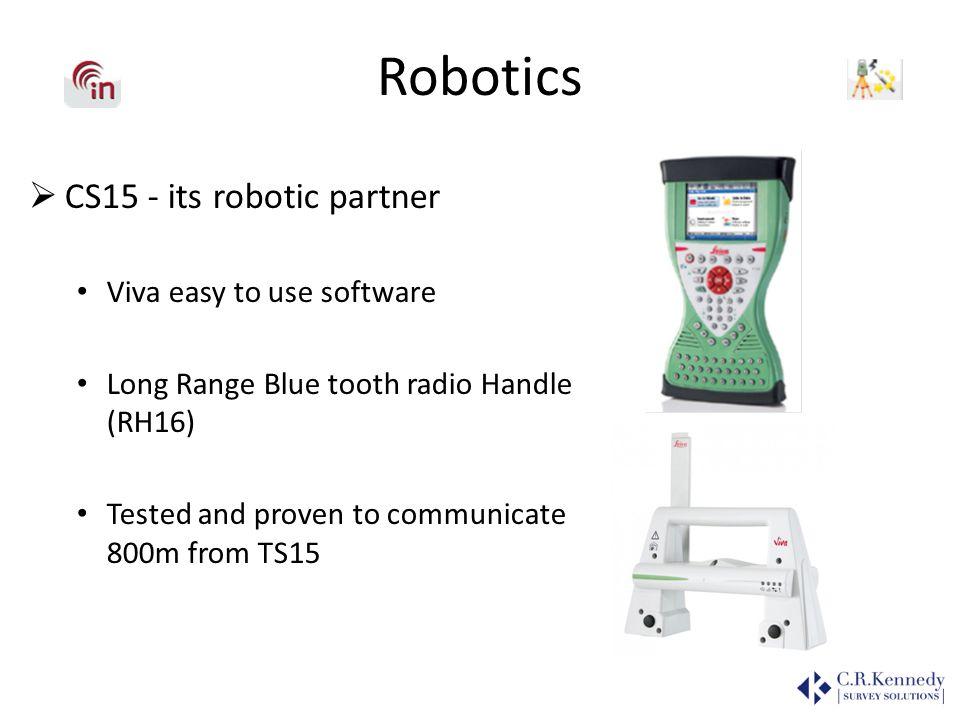 Robotics CS15 - its robotic partner Viva easy to use software