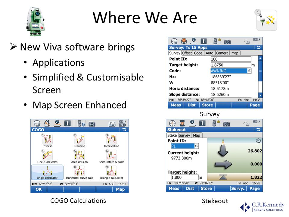 Where We Are New Viva software brings Applications
