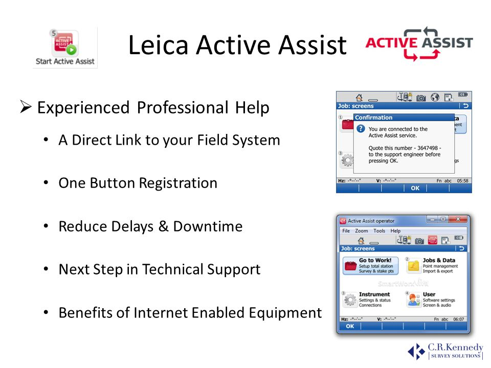 Leica Active Assist Experienced Professional Help
