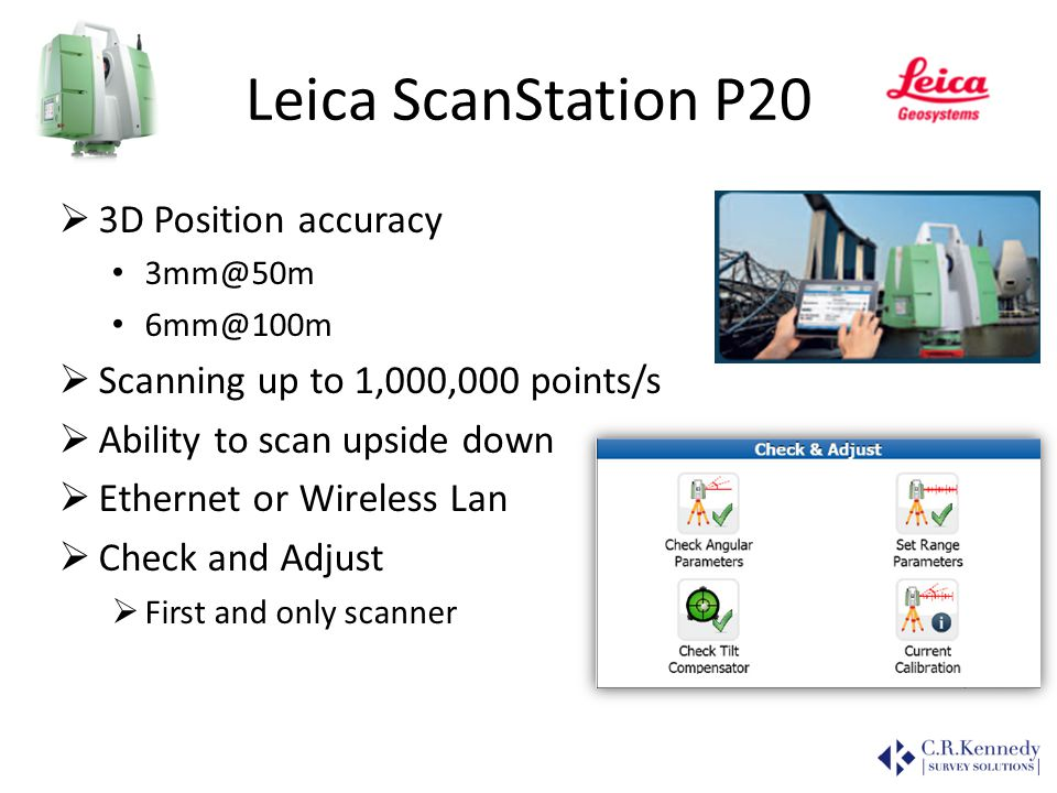 Leica ScanStation P20 3D Position accuracy