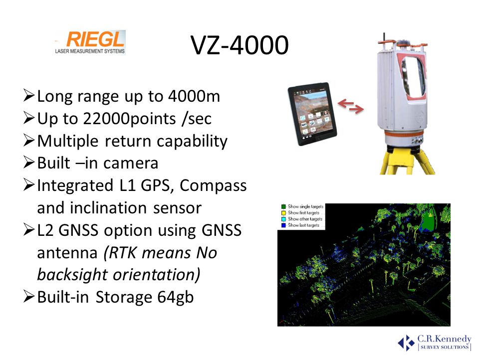 VZ-4000 Long range up to 4000m Up to 22000points /sec