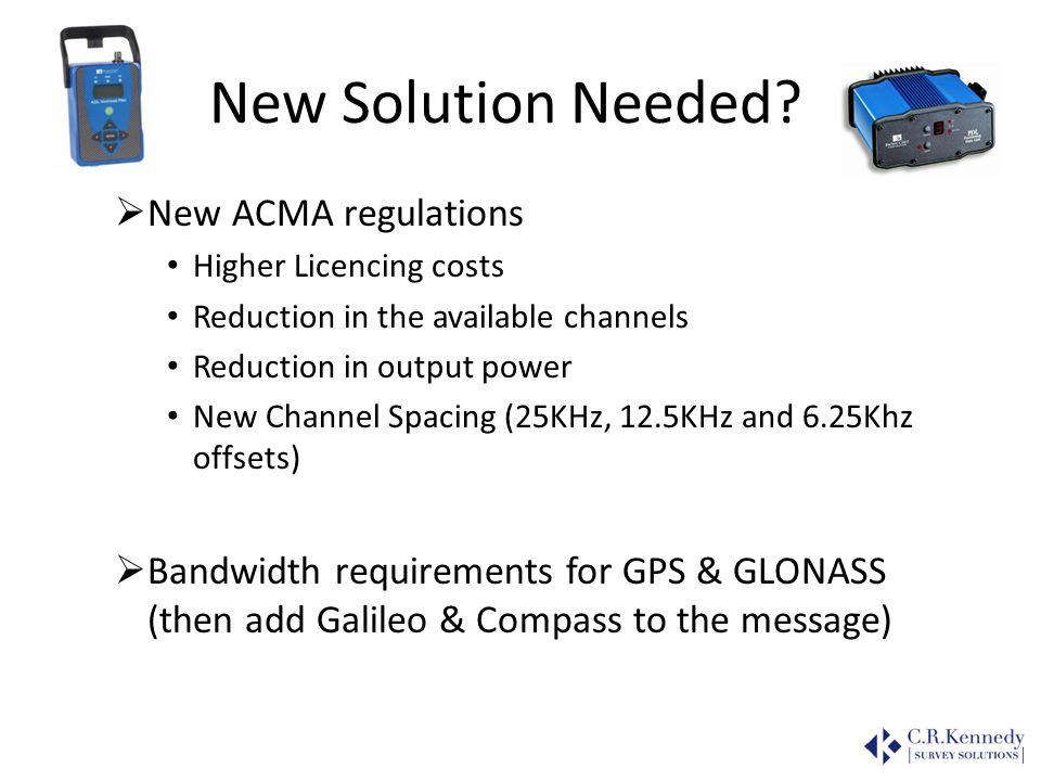 New Solution Needed New ACMA regulations