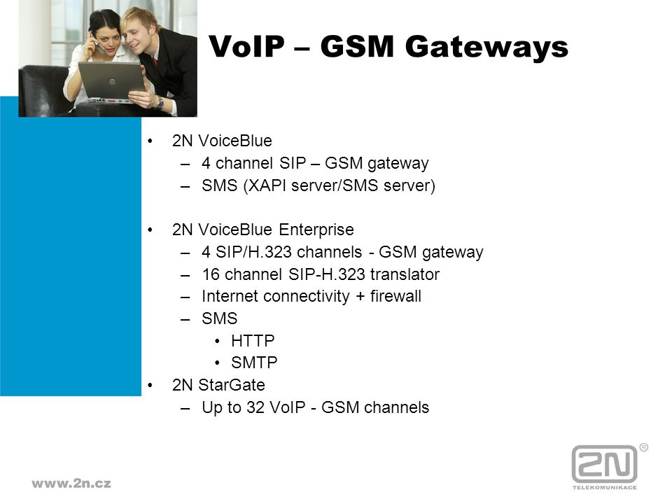 VoIP – GSM Gateways 2N VoiceBlue 4 channel SIP – GSM gateway