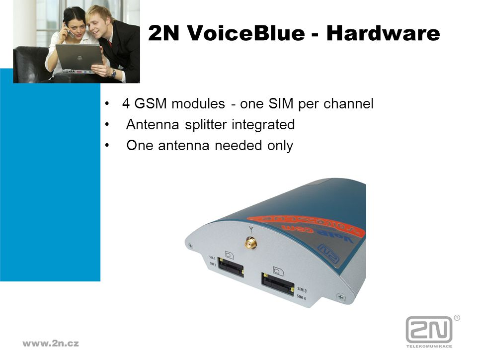 2N VoiceBlue - Hardware 4 GSM modules - one SIM per channel