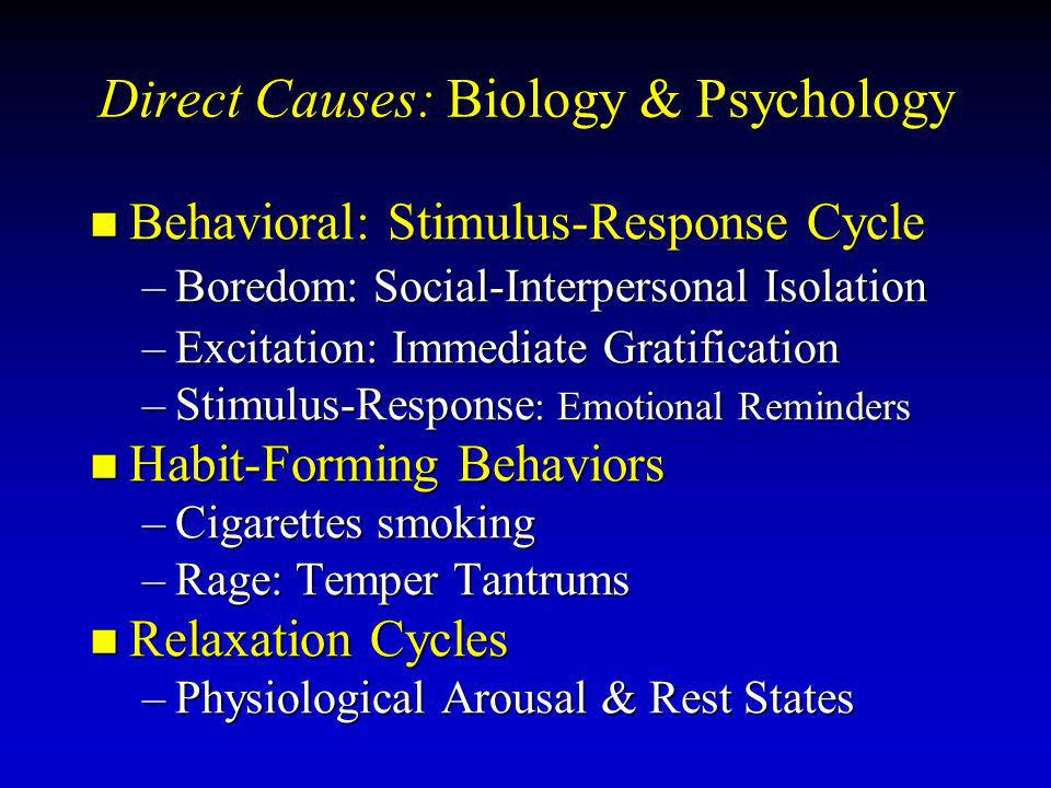 Direct Causes: Biology & Psychology